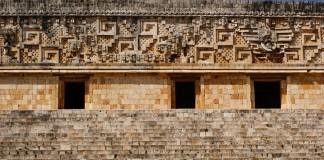 Mexique - Merida - Uxmal - Pyramide - Entrées