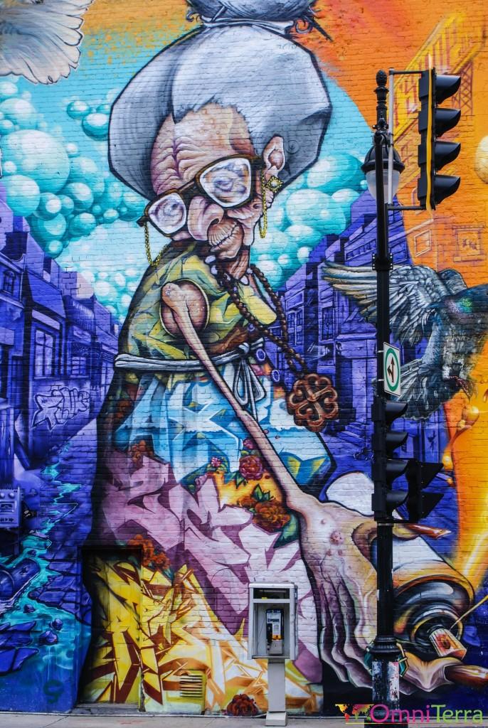 Montréal - Murale - Rue des pins