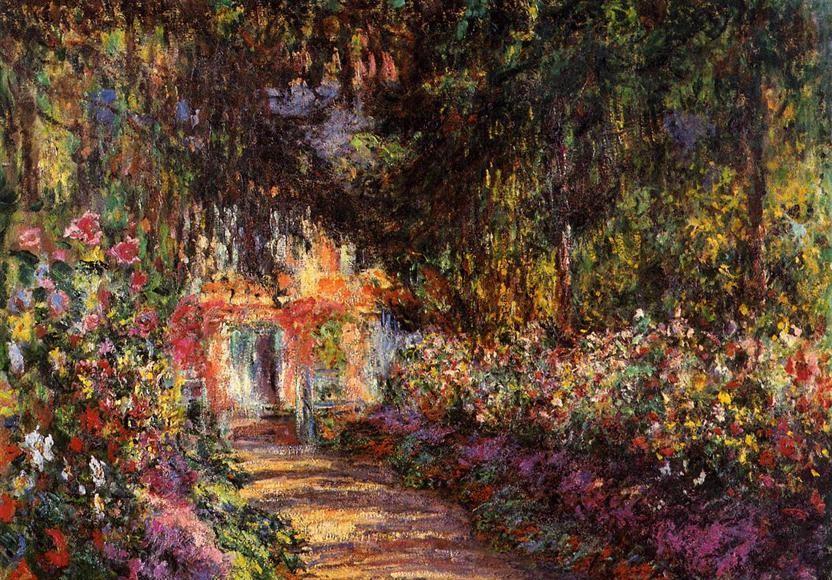 Allée de roses, Giverny - Claude Monet
