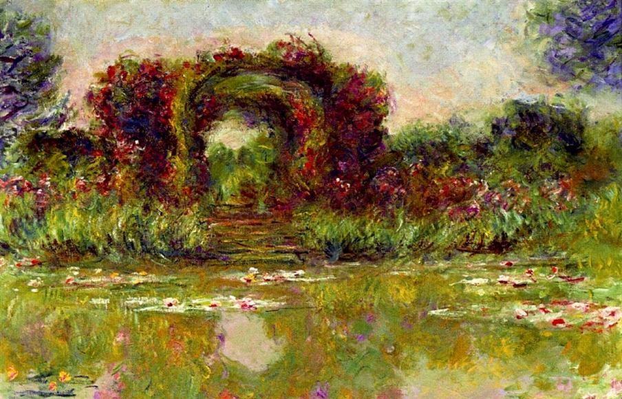 Arche de roses à Giverny - Claude Monet