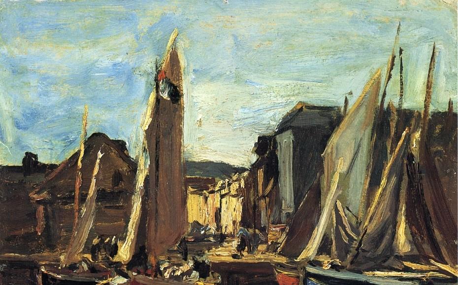 Entrée du port d'Honfleur - Eugène Boudin
