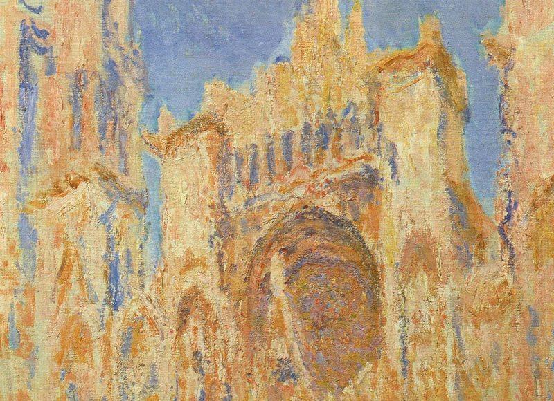 La Cathédrale de Rouen, façade, soleil couchant - Claude Monet