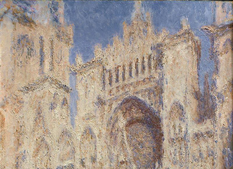 Le Portail de la cathédrale de Rouen au soleil - Claude Monet