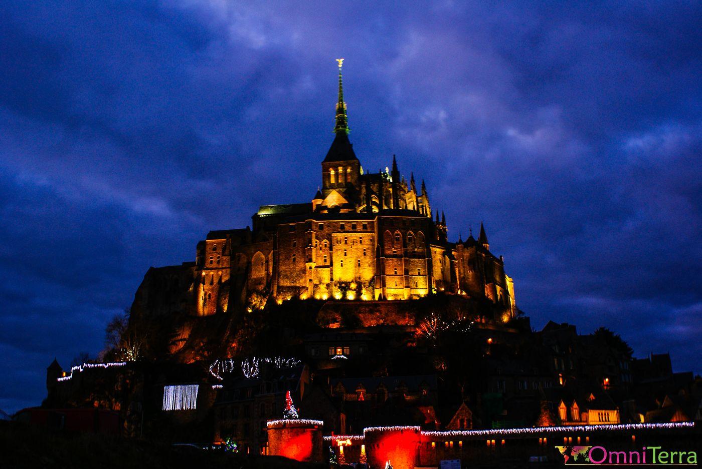 Mont Saint-Michel de nuit