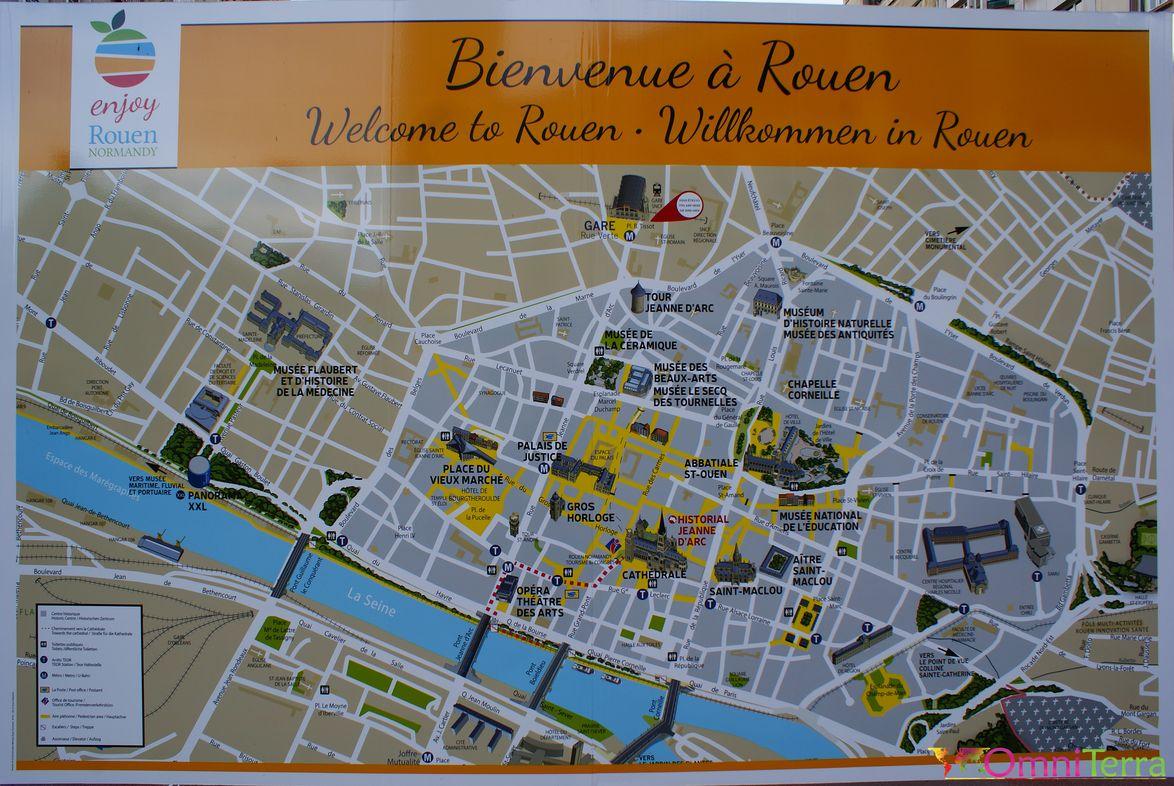 Rouen Carte De La Ville
