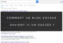 Blog succès - requête Google
